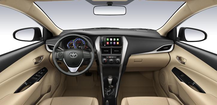 Toyota Vios 1.5E CVT 3 túi khí Nội thất xe - Toyota Vios 1.5E CVT 2021 ( 7 túi khí) - Chiến binh của dòng xe 5 chỗ