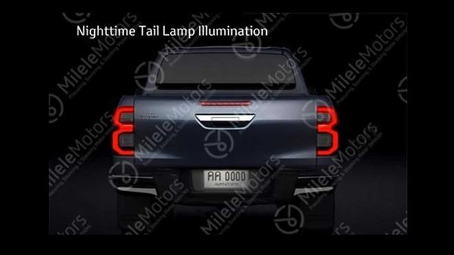 duoi xe cua toyota hilux 2021 toyota tan cang - Hé lộ thiết kế Toyota Hilux 2021 thế hệ mới vừa ra mắt