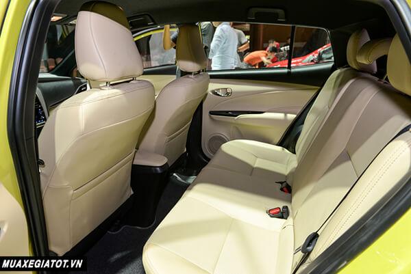 hang ghe sau toyota yaris 2021 1 5 g toyota tan cang 7 - Đánh giá Toyota Yaris 2021 đang bán tại thị trường Việt Nam
