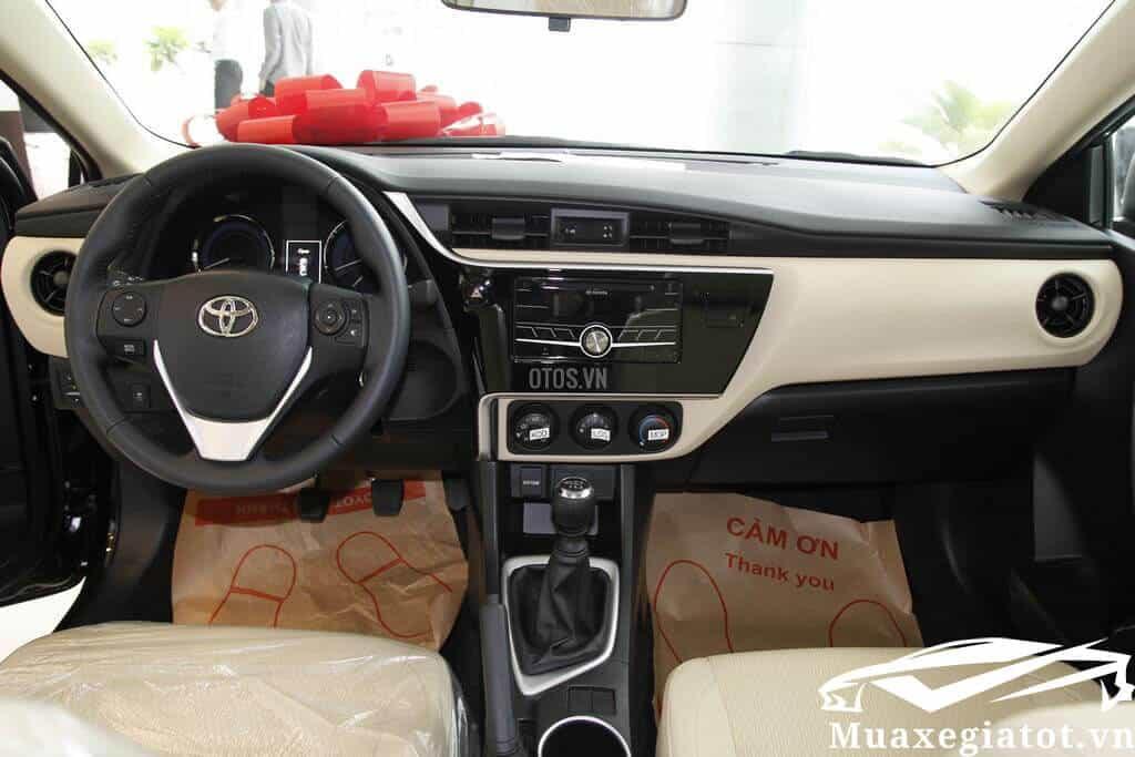 Toyota Corolla Altis 1 8E MT 2017 2021 Mau den 9 toyotatancang net - Chi tiết Toyota Corolla Altis 1.8E MT 2021 ( số sàn) đẹp mê ly đang bán tại Việt Nam