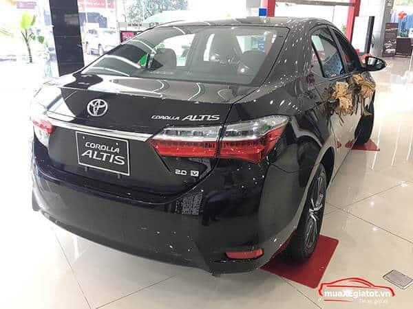 corolla altis 2021 2 0 CVT luxury mau den duoi xe 20v - Toyota Corolla Altis 2.0V 2021 - Bá chủ của dòng xe 5 chỗ tại Việt Nam