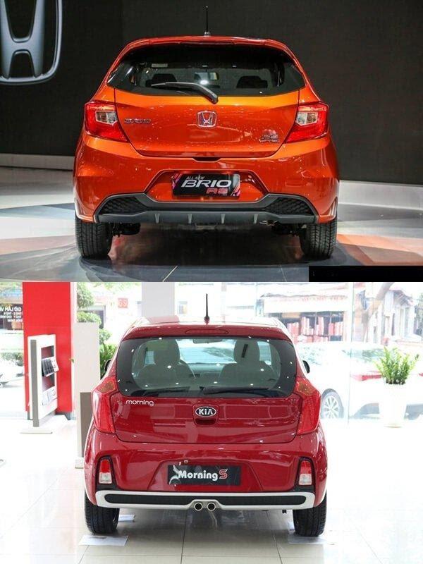 Phần duôi xe khác biệt rõ rệt  - So sánh Kia Morning và Honda Brio- cuộc đụng độ gay gắt của tân binh trong làng xe SUV